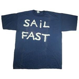 Vintage 90s Sail Fast Live Slow Shirt 2X